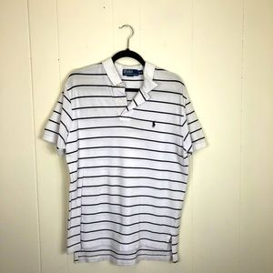 Polo By Ralph Lauren Striped Classic Fit Polo Sz M